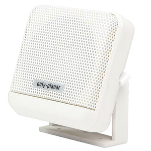 Poly-Planar VHF Extension Speaker - 10W Surface Mount - (Single) White [MB41W] - point-supplies.myshopify.com