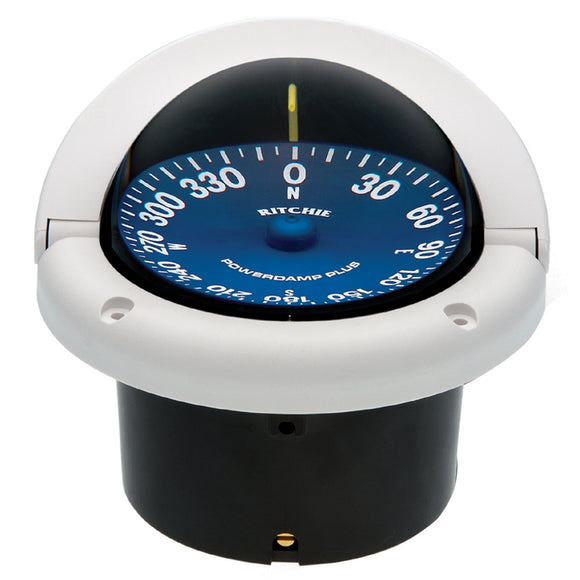 Ritchie SS-1002W SuperSport Compass - Flush Mount - White [SS-1002W] - Point Supplies Inc.
