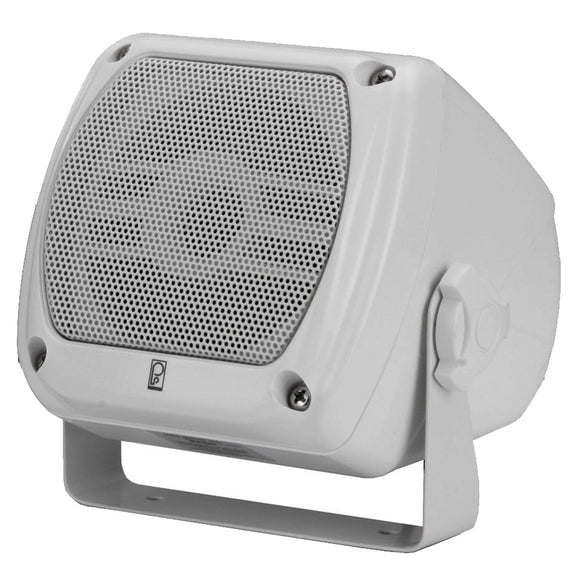 Poly-Planar Subcompact Box Speaker - (Pair) White [MA840W] - Point Supplies Inc.