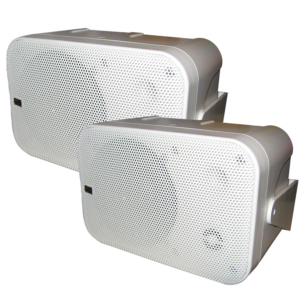 Poly-Planar Box Speakers - (Pair) White [MA9060W]-Poly-Planar-Point Supplies Inc.