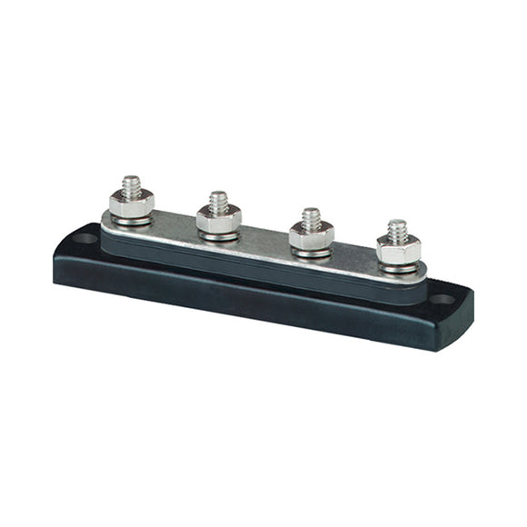 Blue Sea 2305 MiniBus 100 Ampere Common BusBar 4 x 10-32 Stud Terminal [2305] - Point Supplies Inc.