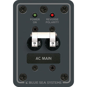Blue Sea 8079 AC Main Only Circuit Breaker Panel - White Switches [8079] - Point Supplies Inc.