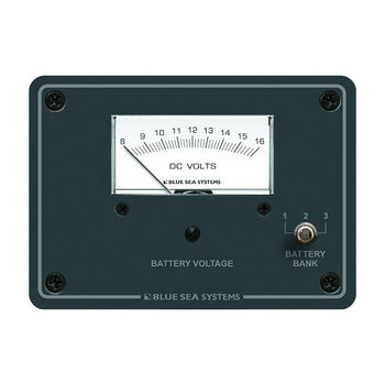 Blue Sea 8015 DC Analog Voltmeter w-Panel [8015]-Blue Sea Systems-Point Supplies Inc.