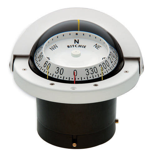 Ritchie FNW-203 Navigator Compass - Flush Mount - White [FNW-203]-Ritchie-Point Supplies Inc.