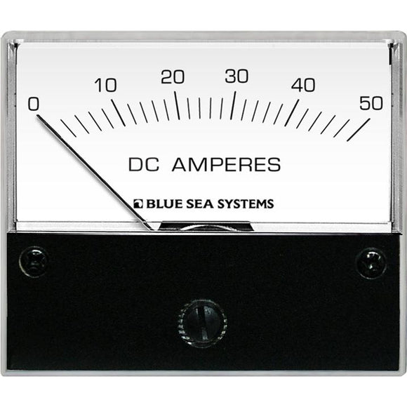 Blue Sea 8022 DC Analog Ammeter - 2-3/4 Face, 0-50 AMP DC [8022] - Point Supplies Inc.