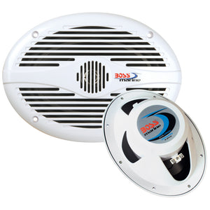 "Boss Audio MR690 6"" x 9"" Oval Marine Speakers - (Pair) White [MR690] - Point Supplies Inc."
