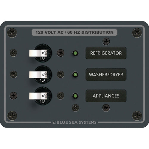 Blue Sea 8058 AC 3 Position Toggle Circuit Breaker Panel - White Switches [8058]-Blue Sea Systems-Point Supplies Inc.