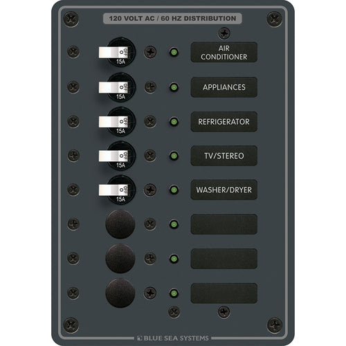 Blue Sea 8059 AC 8 Position Toggle Circuit Breaker Panel [8059]-Blue Sea Systems-Point Supplies Inc.