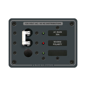 Blue Sea 8029 AC Main +1 Position Breaker Panel - White Switches [8029] - Point Supplies Inc.