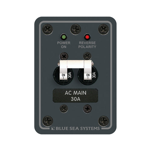 Blue Sea 8077 AC Main Only Toggle Circuit Breaker Panel [8077] - point-supplies.myshopify.com