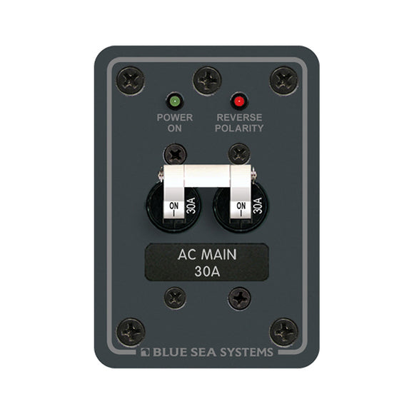 Blue Sea 8077 AC Main Only Toggle Circuit Breaker Panel [8077] - Point Supplies Inc.
