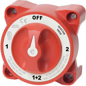 Blue Sea 9002e e-Series Battery Switch Selector w/Alternator Field Disconnect [9002E] - Point Supplies Inc.