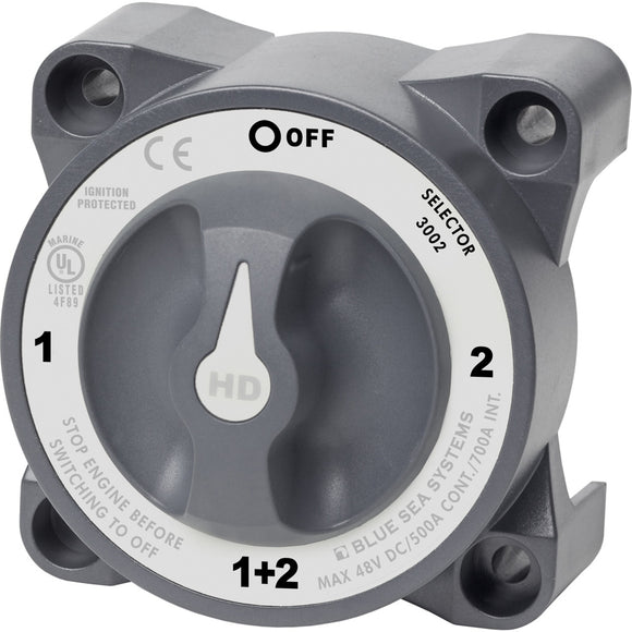 Blue Sea 3002 HD-Series Battery Switch Selector [3002] - Point Supplies Inc.