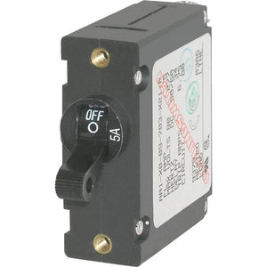 Blue Sea 7200 AC / DC Single Pole Magnetic World Circuit Breaker  -  5 Amp [7200] - Point Supplies Inc.