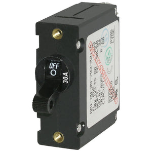 Blue Sea 7220 AC / DC Single Pole Magnetic World Circuit Breaker  -  30 Amp [7220] - Point Supplies Inc.