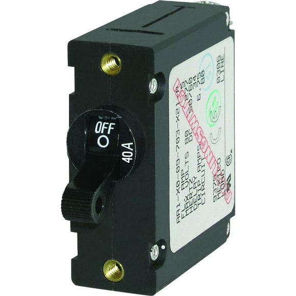 Blue Sea 7224 AC / DC Single Pole Magnetic World Circuit Breaker  -  40 Amp [7224] - Point Supplies Inc.