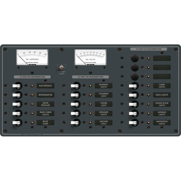 Blue Sea 8378 DC 18 Position Panel - White [8378] - Point Supplies Inc.