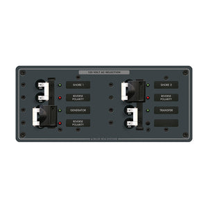 Blue Sea 8498 Breaker Panel - AC 3 Sources - White [8498] - Point Supplies Inc.