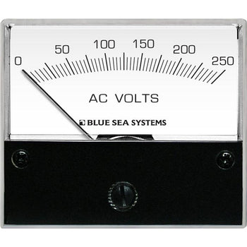 Blue Sea 9354 AC Analog Voltmeter 0-250 Volts AC [9354]-Blue Sea Systems-Point Supplies Inc.