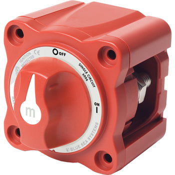Blue Sea 6006 m-Series (Mini) Battery Switch Single Circuit ON-OFF Red [6006]-Blue Sea Systems-Point Supplies Inc.