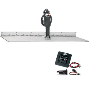 "Lenco 12"" x 30"" Super Strong Trim Tab Kit w/Standard Tactile Switch Kit 12V [TT12X30SS] - Point Supplies Inc."