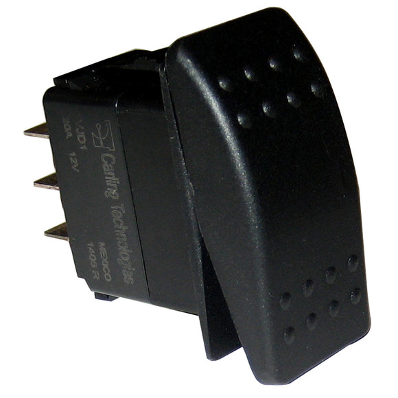 Paneltronics DPDT ON/OFF/ON Waterproof Contura Rocker Switch - Black [001-455] - Point Supplies Inc.
