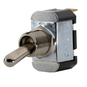 Paneltronics SPST ON/(OFF) Metal Bat Toggle Switch - Momentary Configuration [001-017] - Point Supplies Inc.