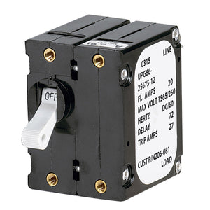Paneltronics 'A' Frame Magnetic Circuit Breaker - 50 Amps - Double Pole [206-085S] - Point Supplies Inc.