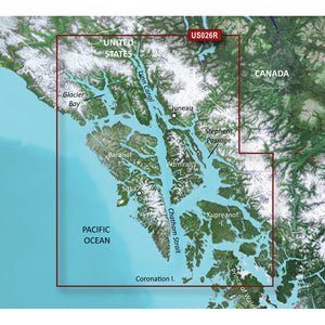 Garmin BlueChart g3 Vision HD - VUS026R - Wrangell/Juneau/Sitka - microSD/SD [010-C0727-00] - Point Supplies Inc.