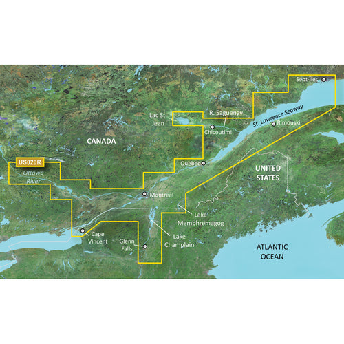 Garmin BlueChart g3 Vision HD - VUS020R - St. Lawrence Seaway - microSD-SD [010-C0721-00]-Garmin-Point Supplies Inc.