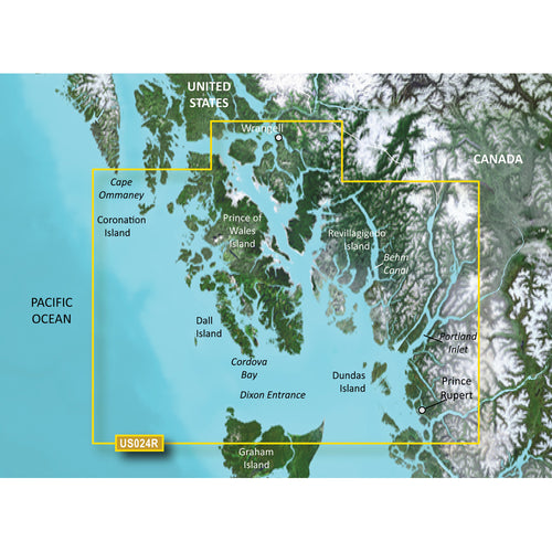 Garmin BlueChart g3 Vision HD - VUS024R - Wrangell - Dixon Entrance - microSD-SD [010-C0725-00]-Garmin-Point Supplies Inc.