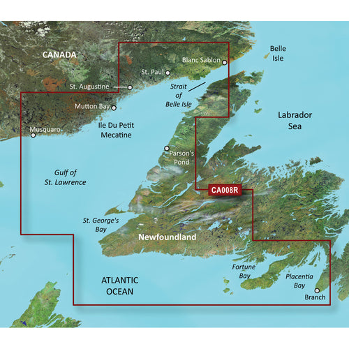 Garmin BlueChart g3 Vision HD - VCA008R - Newfoundland West - microSD-SD [010-C0694-00]-Garmin-Point Supplies Inc.