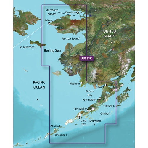 Garmin BlueChart g3 Vision HD - VUS033R - Bristol Bay - Kotzebue Snd. - microSD-SD [010-C0734-00]-Garmin-Point Supplies Inc.