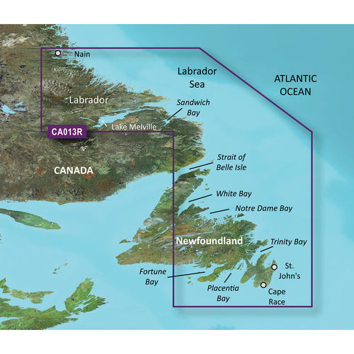 Garmin BlueChart g3 Vision HD - VCA013R - Labrador Coast - microSD-SD [010-C0698-00]-Garmin-Point Supplies Inc.