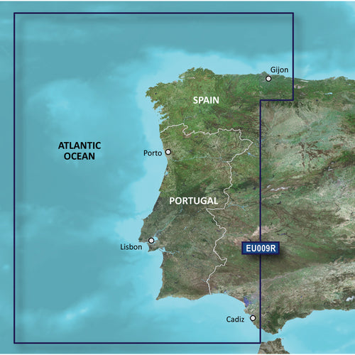 Garmin BlueChart g3 Vision HD - VEU009R - Portugal  NW Spain - microSD-SD [010-C0767-00] - point-supplies.myshopify.com