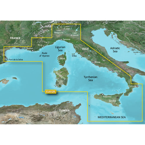 Garmin BlueChart g3 Vision HD - VEU012R - Italy, West Coast - microSD-SD [010-C0770-00] - point-supplies.myshopify.com