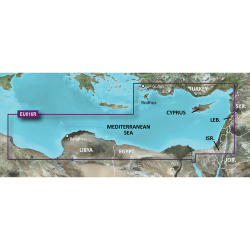 Garmin BlueChart g3 Vision HD - VEU016R - Mediterranean Southeast - microSD-SD [010-C0774-00] - point-supplies.myshopify.com