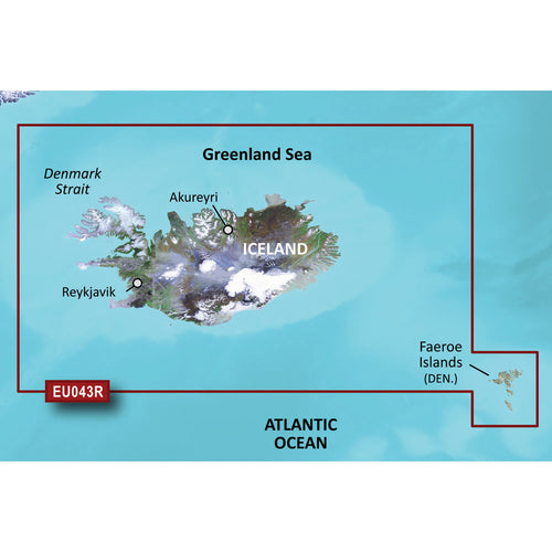 Garmin BlueChart g3 Vision HD - VEU043R - Iceland  Faeroe Islands - microSD-SD [010-C0780-00] - point-supplies.myshopify.com