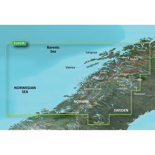 Garmin BlueChart g3 Vision HD - VEU053R - Trondheim - Troms - microSD-SD [010-C0789-00] - point-supplies.myshopify.com