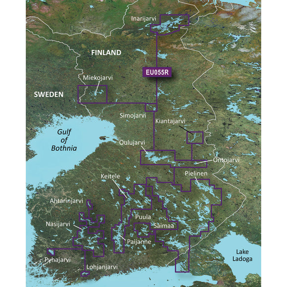 Garmin BlueChart g3 Vision HD - VEU055R - Finnish Lakes - microSD/SD [010-C0791-00] - Point Supplies Inc.