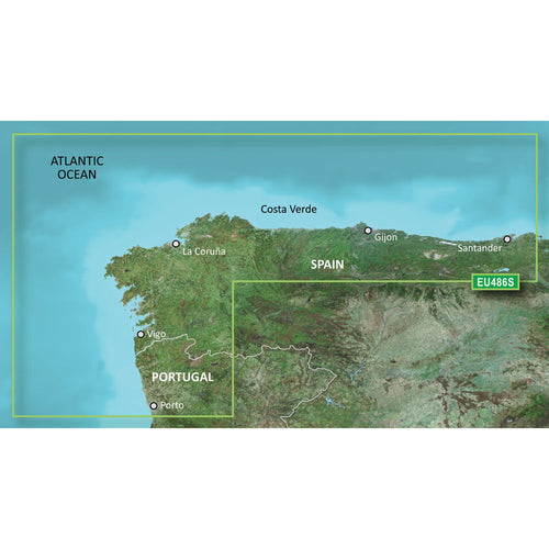 Garmin BlueChart g3 Vision HD - VEU486S - Galicia Asturias - microSD-SD [010-C0830-00]-Garmin-Point Supplies Inc.