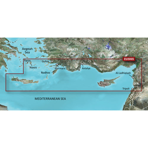 Garmin BlueChart g3 Vision HD - VEU506S - Crete To Cyprus - microSD-SD [010-C0850-00]-Garmin-Point Supplies Inc.