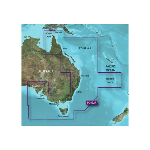 Garmin BlueChart g2 Vision HD - VPC022R - East Coast Australia - microSD-SD [010-C0756-00] - point-supplies.myshopify.com