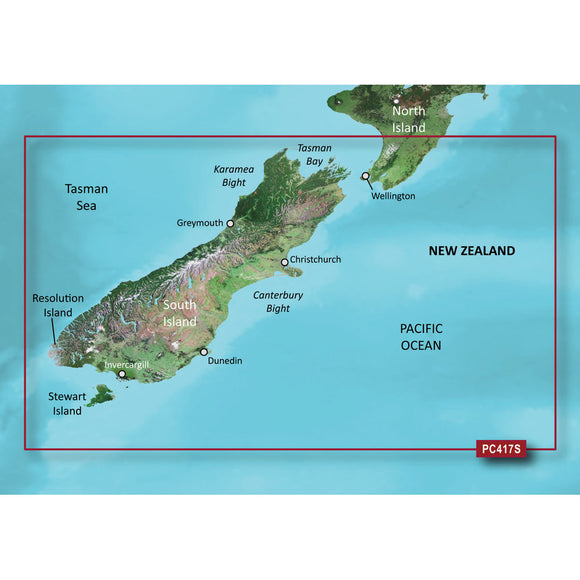 Garmin BlueChart g2 Vision HD - VPC417S - New Zealand South - microSD/SD [010-C0875-00] - Point Supplies Inc.