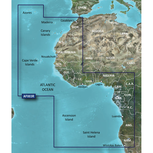 Garmin BlueChart g2 Vision HD - VAF003R - Western Africa - microSD-SD [010-C0749-00] - point-supplies.myshopify.com
