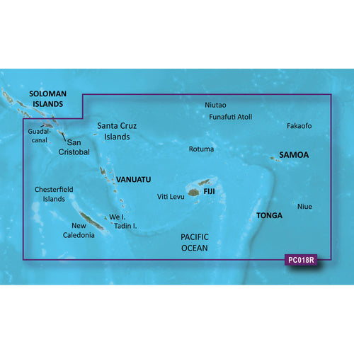 Garmin BlueChart g2 Vision HD - VPC018R - New Caledonia - Fiji - microSD-SD [010-C0865-00] - point-supplies.myshopify.com