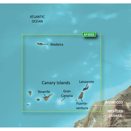 Garmin BlueChart g2 Vision HD - VAF450S - Madeira & Canary Islands - microSD-SD [010-C0750-00] - point-supplies.myshopify.com