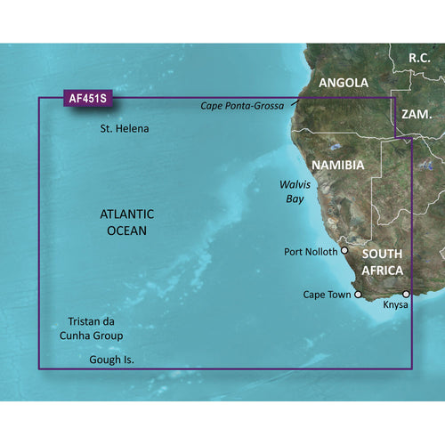 Garmin BlueChart g2 Vision HD - VAF451S - Namibia - Knysna, SA - microSD-SD [010-C0751-00] - point-supplies.myshopify.com