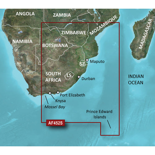 Garmin BlueChart g2 Vision HD - VAF452S - Knysna, SA to Beira, MZ - microSD-SD [010-C0752-00] - point-supplies.myshopify.com