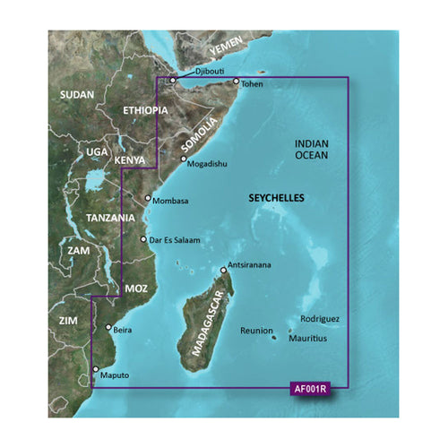 Garmin BlueChart g2 Vision HD - VAF001R - Eastern Africa - microSD-SD [010-C0747-00] - point-supplies.myshopify.com